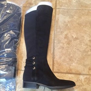 Vince Camuto black wide calf boots